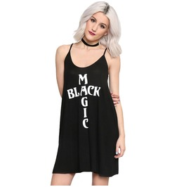 Black Magic Black Loose Dress Women's