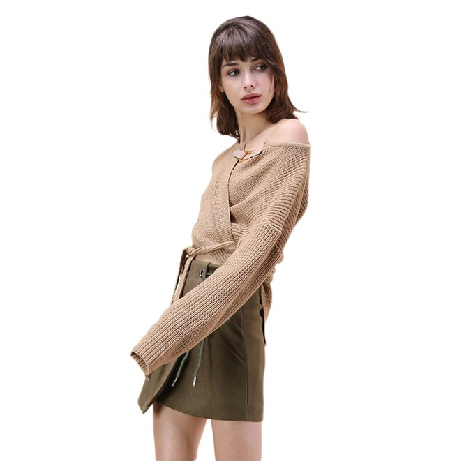 rebelsmarket_irregular_tie_up_buckle_khaki_sweater_womens_hoodies_and_sweatshirts_4.jpg