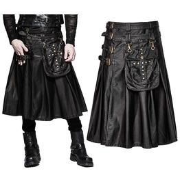 men modern gothic fashion kilt active men punk detachable