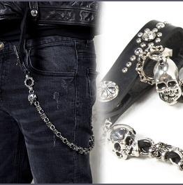 Double Skull Metal Rope Wallet Chain 31