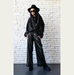 Extravagant Sleeves/Avant Garde Top/Black Poncho Top/Asymmetric Tunic Top