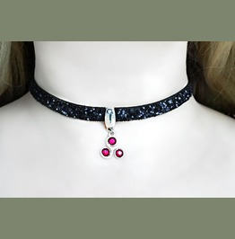 Bdsm Symbol Submissive Collar Leather Choker Triskele Triskelion Necklace