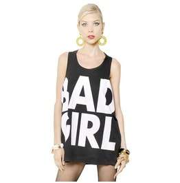 Bad Girl Oversized Tank Top Womens