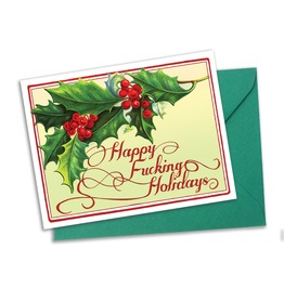 Happy Fucking Holidays Christmas Cards Set Of 4 With Matching Envelopes