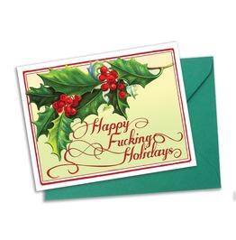 Happy Fucking Holidays Christmas Cards Set Of 4 With Matching Envelopes