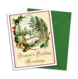 Season's Fucking Greetings Cards Set Of 4 With Matching Envelopes