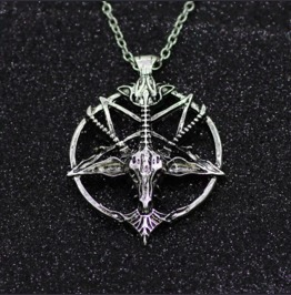 Occult Pentagram Pendant Unisex Goat Mens Womens