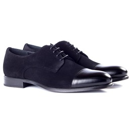 Handmade Cap Toe Formal Shoes, Men Black Color Dress Shoes, Shoes For Mens