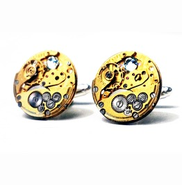 Steampunk Bdsm Mens Jewelry Cufflinks Gift For Him Robot Skeleton Watch