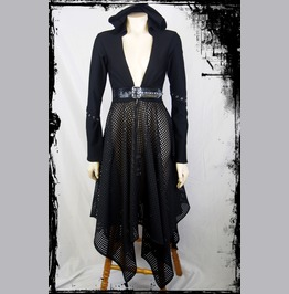 The Mage Black Hooded Jacket, Size Small To Medium Gothic