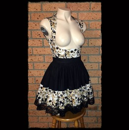 Skulls And Flowers Underbust Dress, Size Medium Gothic Lolita