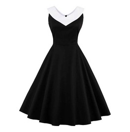 Lolita Goth Patchwork Black Party Vintage Dress