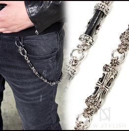 Antique Metal Cross Wallet Chain 32