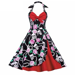 Skulls And Roses Retro Rockabilly Betty Dress