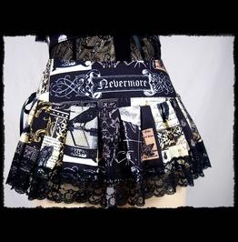 Nevermore The Raven Skirt Belt Edgar Allan Poe Size Medium