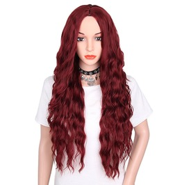 30 Inches Long Wavy Synthetic Hair Wig Women