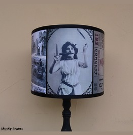 Circus Performer Black And White Unique Drum Lampshade Lamp Shade