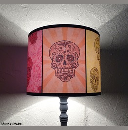 Sugar Skulls Colorful Calaveras Table Lamp Shade Lampshade