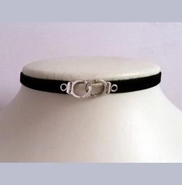 Black Handcuffs Velvet Grunge Choker