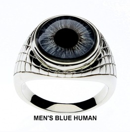 Blue And Brown Human Glass Eye Rings | 6 Unique Designs | Men Women Unisex
