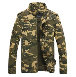 Army Military Tactical Camouflage Bomber Jacket Men