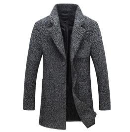 Long Trench Coat Overcoat Men