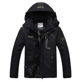 Large Size Windproof Hooded Parkas Winter Jacket Men