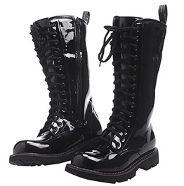 Cow Light Leather Long High Waterproof Snowboots Motorcycle Boots Men