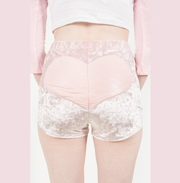 Iron Fist Heart High Waist Shorts (Pink)