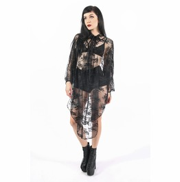 Iron Fist Deathwish Batwing Dress (Black Lace)