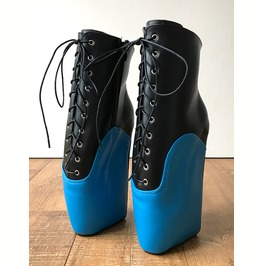 Begin Ii Ballet Wedge Hoof Sole Heelless Fetish Pointe Training Black Blue