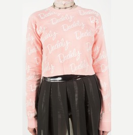 Iron Fist Daddy Jacquard Sweater (Pink)