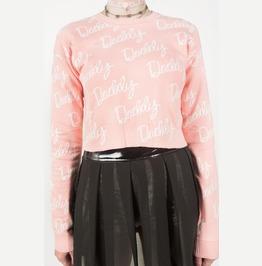 Iron Fist Daddy Jacquard Sweater (Pink)