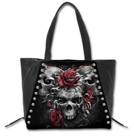 Skulls N' Roses Tote Bag Top Quality Pu Leather Studded