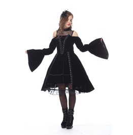 Dw142 Gothic Princess Dress With Noble Solf Velet(Not Incl. Petticoat)