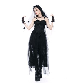 Dw146 Gothic Sexy Corset Lace Dress With Nets Yarn