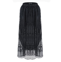 Kw097 Casual Hollow Out Lace Skirt