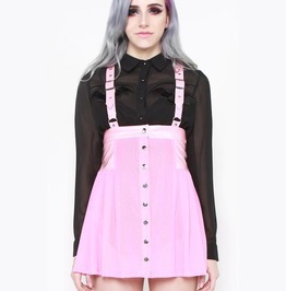Iron Fist Sunday School Dropout Jumper Skirt (Baby Pink)