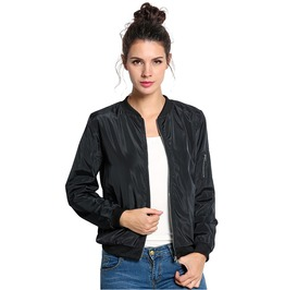 Autumn Short Slim Punk Rock Pilot Bomber Jacket Women