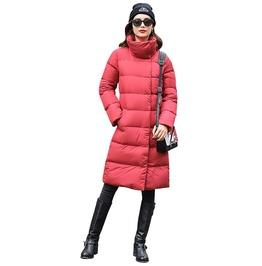 Stand Collar Winter Down Coat Women Long Jacket Parka