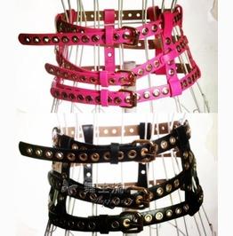 Punk Rock Multilayer Leather Belts Women Waistband