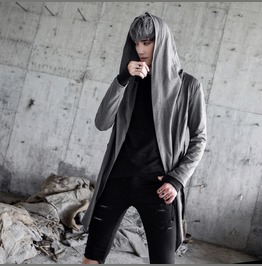 New Autumn Fashion Solid Color Hooded Coats Casual Cardigan Outwear