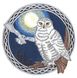 Snowy Owls Embroidered Patch