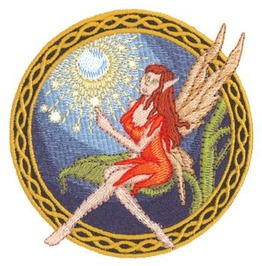 Embroidered Faerie Fairy Patch