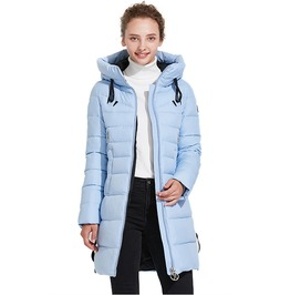 Double Zipper Pocket Autumn Winter Quilted Jacket Women