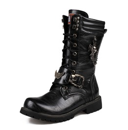 Men's Premium Black Riptide Galloper Boots Motorcycle Boots