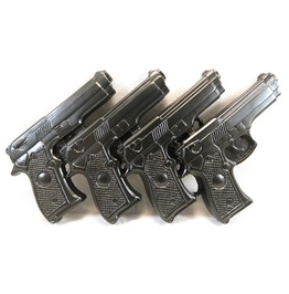 Gun Belt Buckle Black Pistols