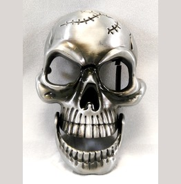 Chrome Skull Belt Buckle W/ Moving Jaw