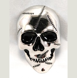 Zombie Skull Belt Buckle
