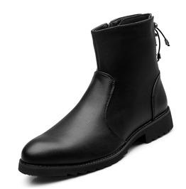 Men's Fashion Lace Up Side Zipper Scout Boots